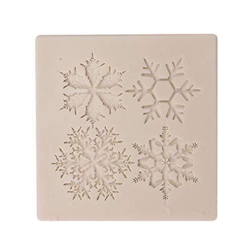 Depory 1 Stück Silikon Form Weihnachts Schneeflocke DIY Kuchenform Brotform Schokoladen Fondant Formen Backen Formen Plätzchenform