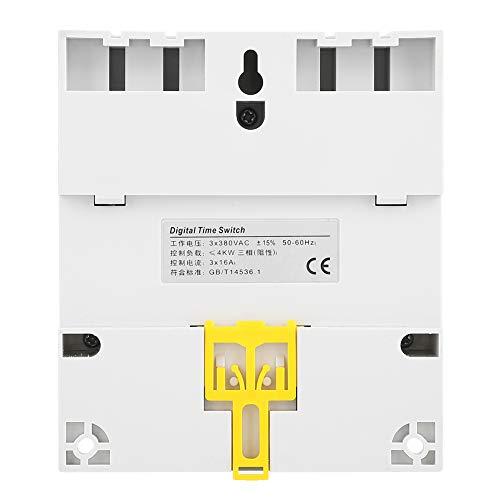 Interruptor de temporizador de potencia digital Interruptor de temporizador de potencia semanal para microordenador Bomba de agua para calentador de agua