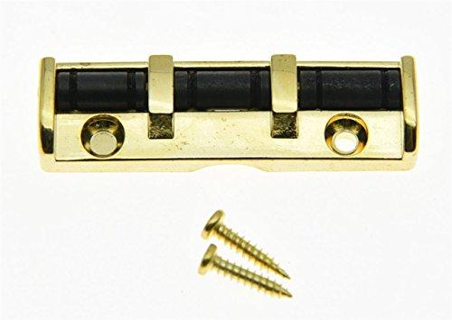 kaish 43mm Gold Metall Muttern E-Gitarre-Rollensattel für Strat Tele