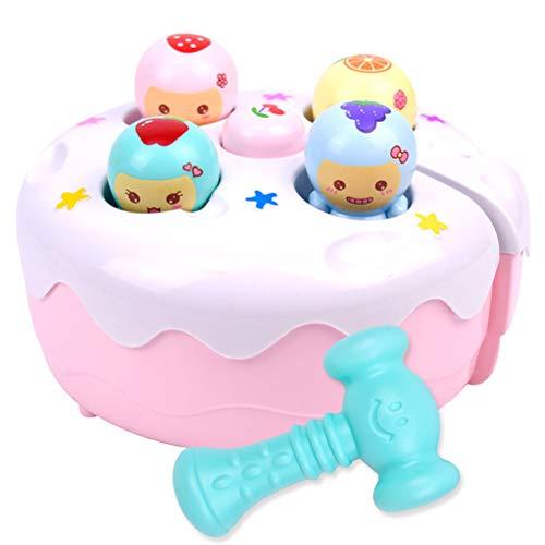 AimdonR Elektrisches Hamster-Baby-Spielzeug, elektrisches Hamster-Baby-Spielzeug Ton Licht Schlag-EIN-Maulwurf-Spiel-Maschine Frucht-Kuchen, der Musik-Spiel-frühes pädagogisches Spielzeug klopft