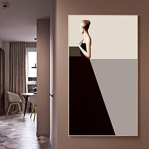 Geiqianjiumai Artista de la Pared decoración del hogar impresión Moderno Personaje Popular Mural Imagen Modular Lienzo póster Pintura sin Marco 60x80cm