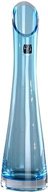 CIEEIN CIEHT Vase Vase en Verre La décoration Arrangement de Fleurs Bar Salon Réception de Mariage Bleu Ciel 23.5cm de Hauteu
