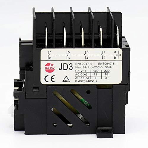 Wasserdichte Industrielle Elektromagnetische Drucktastenschalter KEDU KJD11 JD3 8-Poliges 10Pin Tastschalter Relais (10Pin-230V Relais)