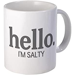 Endingfo Hello I'm Salty Funny Quote Classic White Coffee Mug