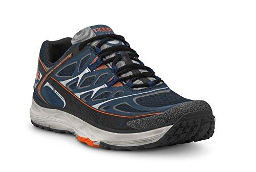 Topo Athletic MT2 Trail Zapatillas de correr para hombre, azul marino/gris 10,5