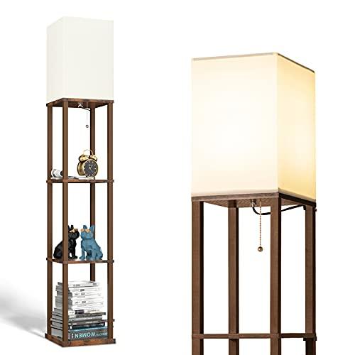 addlon フロアライト フロアランプ LED フロアスタンド E26 LED電球付き おしゃれ 間接照明 目に優しい 組立簡単 寝室/リビング/書斎/オフィスなど適応 ヴィンテージ