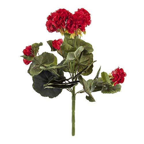 Euro Flora Artificial Geranio Racimo Rojo 36 Cm