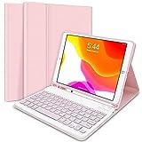 "iPad Keyboard Case 10.2"" 8th/7th Gen for iPad 2020/2019, Wireless Detachable BT Keyboard"