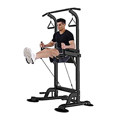 Amazon - Save 75%: Aimik US Fast Shipment Dip Station Chin Up Bar Core Power Tower,Sturdy 5 Heig…