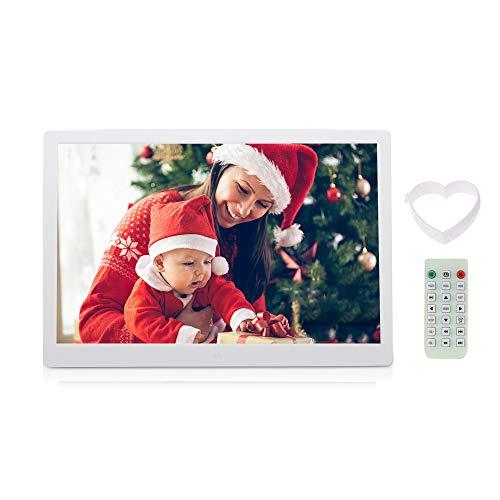 Andoer® 15.6 LED Hohe Auflösung 1280 * 800 Digitaler Bilderrahmen mit Funktionen Wecker MP3 MP4 Player mit Fernbedienung Maschine Gute Wahl für Weihnachtsgeschenk