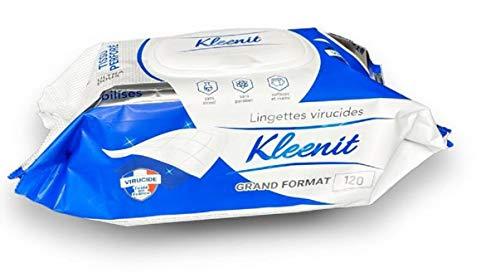 Kleenit - Toallitas húmedas antibacterianas para limpiar superficies y manos, 720 toallitas (6 paquetes de 120)