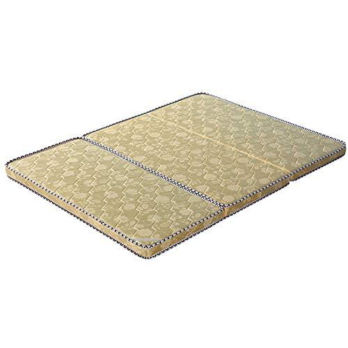HSGei Bed Massage Mattress Topper Hard Mattress Natural Coir Mattress Pad for Single Double Queen Size,Yellow,100x200 cm