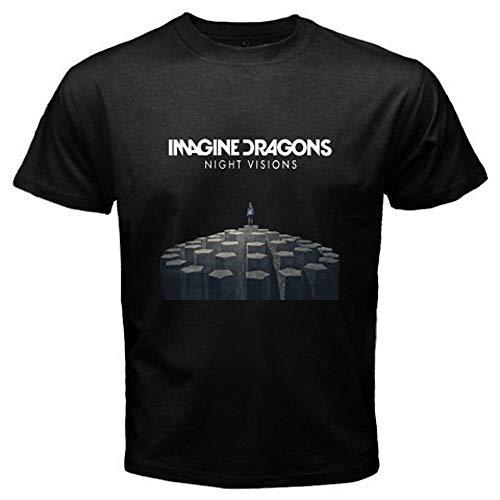 Imagine Dragons Night Visions Rock Band Men's T-Shirt Black S