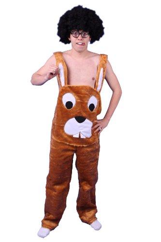 TH-MP Plüschkostüm Hasen Kostüm Latzhose braun Gr. M