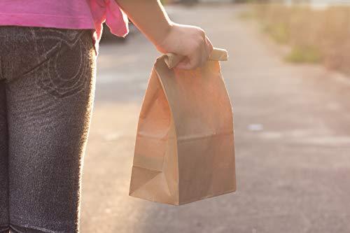 good4food 250 Lunchtüten Bodenbeutel Papiertüte Fastfood Tüten Doggybag Snackverpackung 22+14x29 cm braun - FSC