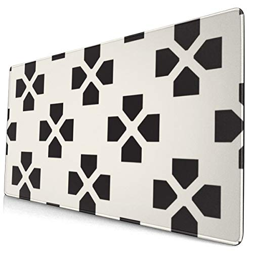 Tracery Pattern Repeated Lattice 40 X 75 Cmmouse Pad Mat Quick and Accurate Move Non Slip Base, Smooth Surface