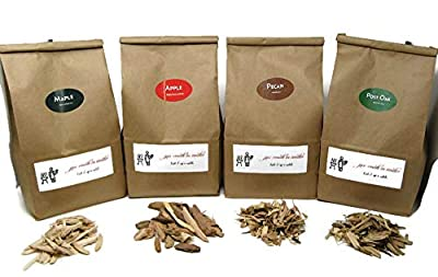 Jax Smok'in Tinder Premium BBQ Wood Chips for Smokers Variety Pack - Our Most Popular Medium Sized Smoker Chips