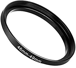 Fotodiox Metal Step Up Ring, Anodized Black Metal
