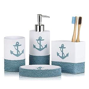 41BiXKis6LL._SS300_ Coastal & Beach Bathroom Accessories Sets