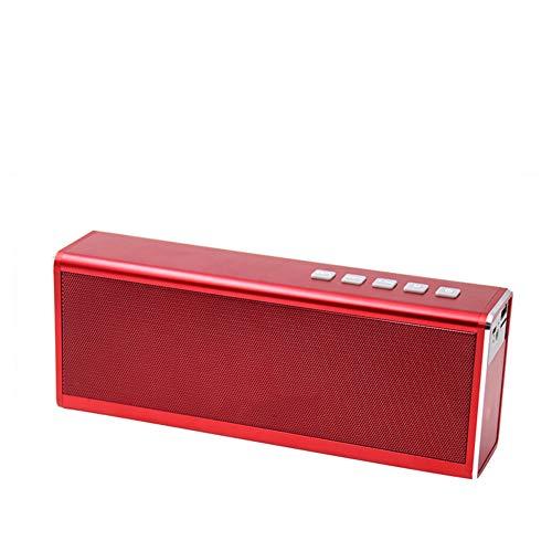 R-SOUNDBAR Bluetooth 4.0 Lautsprecher Subwoofer,20 Stunden Wiedergabezeit Im Freien, Freisprechfunktion, TF-Karte, AUX-Audioeingang, U-Disk-Soundkartenwiedergabe,Red