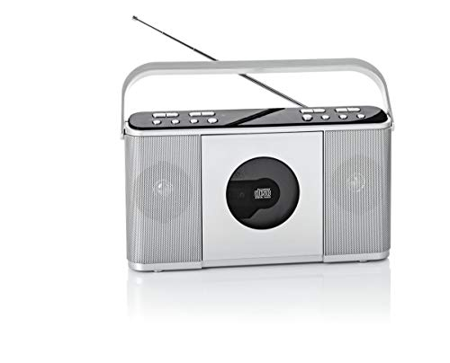 NEWTRO CD-Kofferradio mit DAB - CD, DAB+ Digitalradio, UKW/FM-Radio mit PLL-Tuner, USB-Playback, AUX-IN, UVM.