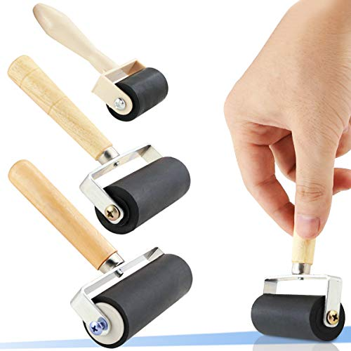 2.5 Inch Paint Brayer Heavy Duty Steel Frame Art Craft Tool Ideal for Anti Skid Tape Print Ink and Stamping Tools Construction Tools Rubber Roller