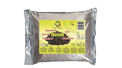 SOS-VERDE Torta de Neem - 1Kg - Un Producto 100% orgánico para Alimentar y Proteger Las Plantas