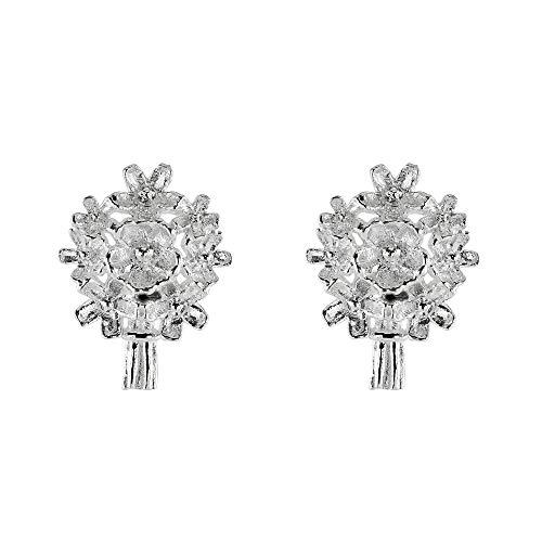 Dew Sterling Silver Forget Me Not Bouquet Stud Earrings 40808HP