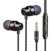 Earbuds Earphones Headphones Stereo in-Ear Earbuds with Microphone Mic and Volume Control Noise Isolating Wired Ear Buds Compatible Android Phone Tablet Laptop 3.5mm Devices Headphones