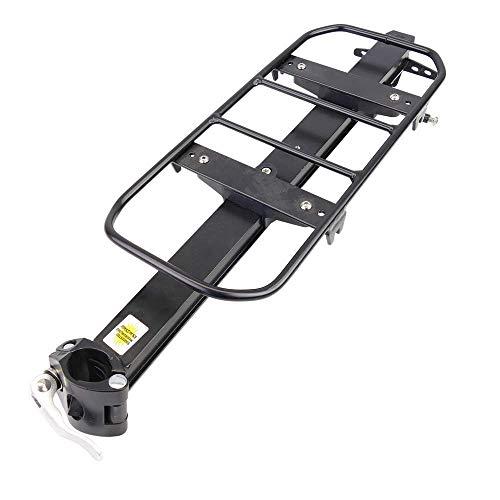 Cablematic - Portaequipajes metálico trasero bicicleta fijación tubo de 37x16cm