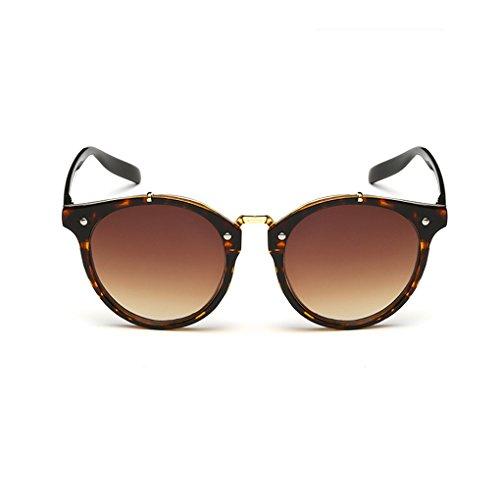 QHGstore Hombres Mujeres Nuevas gafas de sol al aire libre UV400 de conducción espejo Gafas Fire/dark brown