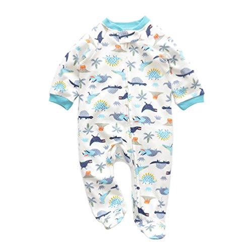 KESYOO Baby Jumpsuits Katoenen Rompertjes Eendelig Bodysuit Met Lange Mouwen Slapen en Spelen (Dinosaurus)