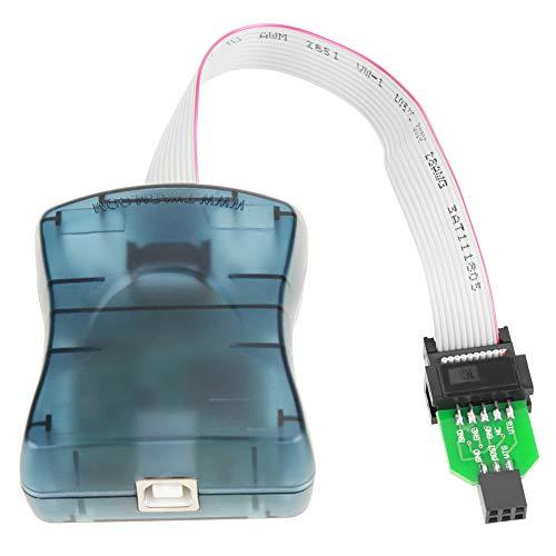 USB AVRISP mkII Downloader kompatibel,AVRISP mkII Downloader kompatibel mit Original Programmer Unterstützt AVR Studio XP / WIN7 / WIN8 / WIN10,mit USB-Kabel und CD