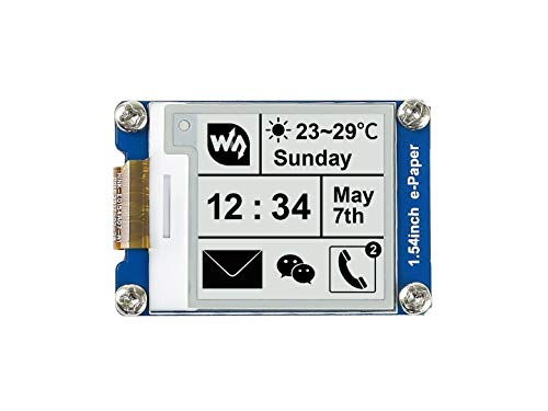 Waveshare 1.54 Inch E-Paper Display Panel Module Kit 3.3v E-Ink Electronic Screen for Raspberry Pi SPI Interface