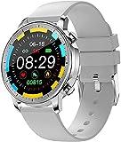 QHG Salud Fitness Tracker Monitor de Ritmo cardíaco Presión Arterial Actividad Tracker Sleep Monitor Pedómetro Paso Calorie Bluetooth Smart Watch (Color : Gray)