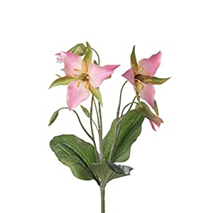 artplants.de Rama de Azucena sintética Madie Vara fijación, Rosa, 40cm, Ø10-12cm – Lirio Artificial – Azucena de…
