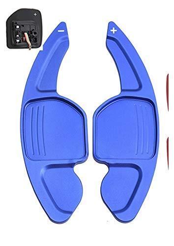 Paddle del volante del coche Para Audi A3 S3 A4 S4 B8 A5 S5 A6 S6 A8 R8 Q5 Q7 TT DSG Rueda de Rueda de Rueda de Rueda de Rueda dentada (Color : Azul)