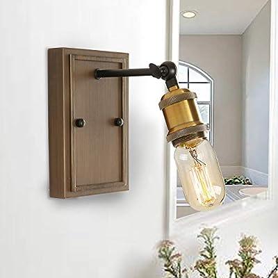 Giluta Industrial Wall Sconce Rustic Bathroom Wall Light Fixture Angle Adjustable Loft Edison Wall Lamp
