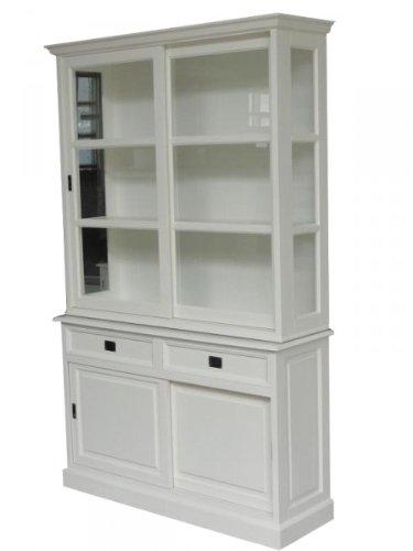 Casa Padrino Großer Shabby Chic Landhaus Stil Schrank mit 2 Türen und 2 Schubladen - Buffetschrank - Schrank Esszimmer