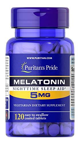 Puritan's Pride Extra Strength Melatonin 5 mg-120 Tablets