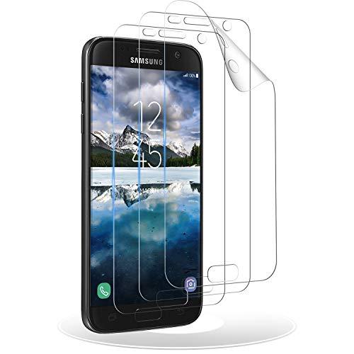 RIIMUHIR Verre Trempé pour Samsung Galaxy S7 Edge, [3 Pièces] Film Protection pour Samsung S7 Edge, Protecteur D'écran, Dureté 9H, Anti Rayures, Sans Bulles, HD Transparent, Ultra-Clear - TPU