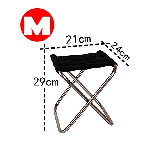 Silla de Camping Plegable Silla de Pesca de Picnic Ligera Paño de Aluminio Plegable Silla de Playa portátil para Exteriores Muebles de Exterior - Gris-M