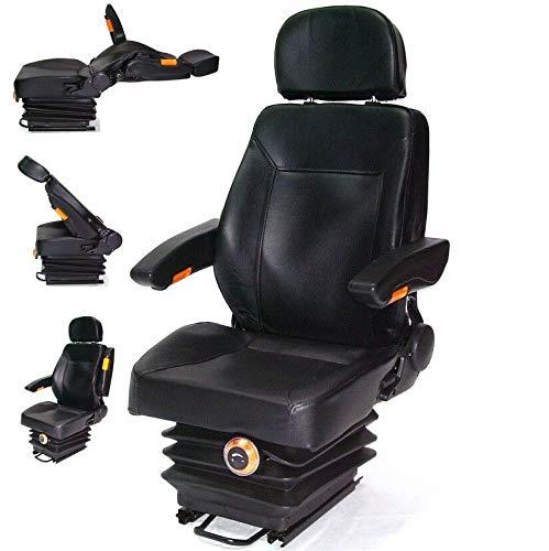 D+L GmbH Traktorsitz Schleppersitz mit Federung 56007 Armlehne Rückenlehne Treckersitz Kopfstüzte AWZ