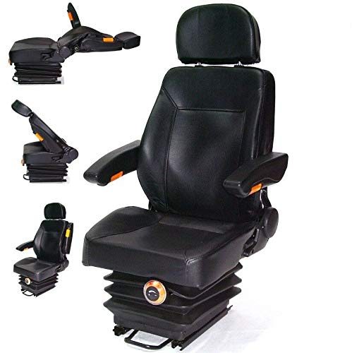 D+L GmbH Traktorsitz Schleppersitz mit Federung 56007 Armlehne Rückenlehne Treckersitz AWZ