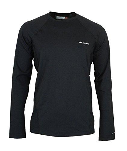 Columbia Omni-Heat Mens Midweight Stretch Baselayer Long Sleeve Shirt, Black, Large