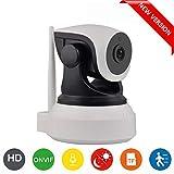 Cámara IP WiFi HD para la vigilancia de interiores con sensor de movimiento y visión nocturna, compatible con iOS y Android. DIYtech (P2P, Pan/Tilt, O