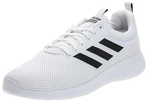 adidas Mens LITE Racer CLN Running Shoe, FTWWHT/FTWWHT/CBLACK,42 2/3 EU