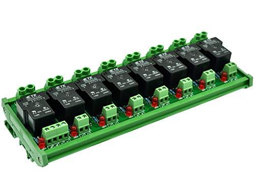 CZH-Labs Módulo de relé de alimentación pasivo de 24 V 8 SPST-NO de 30 A.