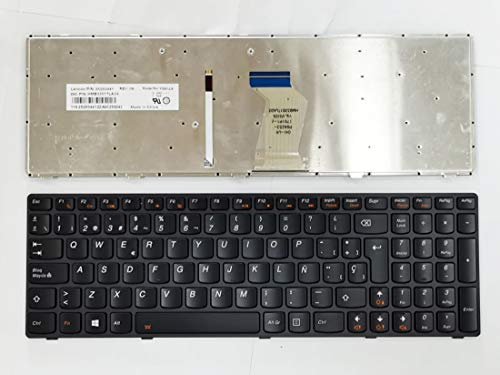 HuiHan SP - Teclado de repuesto con retroiluminación para Lenovo Ideapad Y580 Y580A Y580N Y590N Y590 25207366