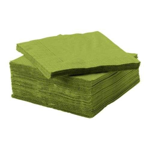 FANTASTISK / ペーパーナプキン / グリーン / 24×24 cm 50ピース IKEA イケア